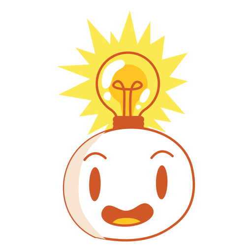 Head with light bulb Transparent PNG