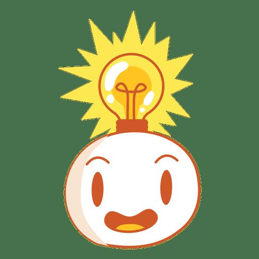 Head with light bulb