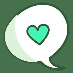 Bolha de bate-papo do coração