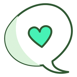 Heart chat bubble