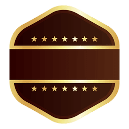 Crachá de ouro Hexagon