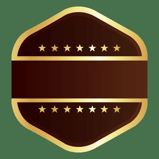 Hexagon goldenes Abzeichen Transparent PNG