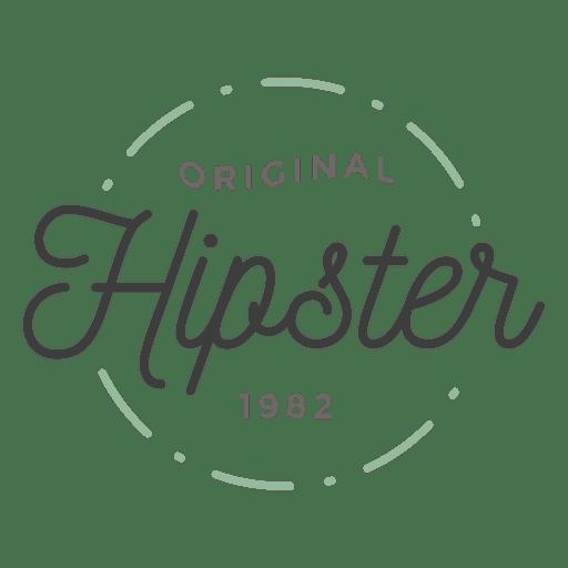 Logo de hipster Transparent PNG