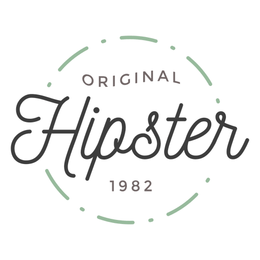 Logotipo do hipster Transparent PNG