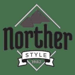 Logotipo da montanha hipster
