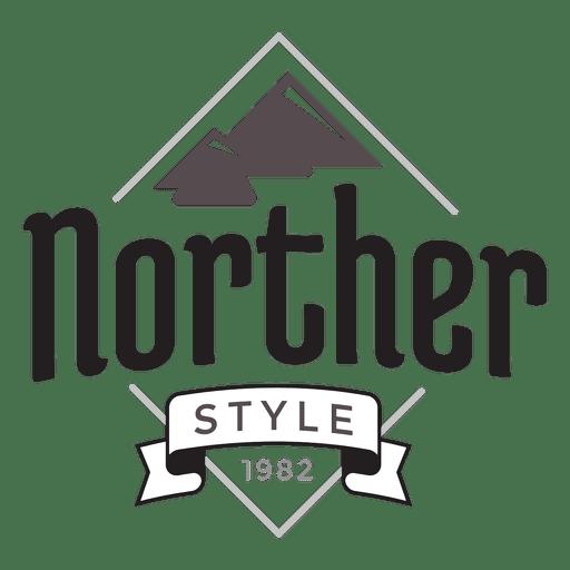 Logotipo da montanha hipster Transparent PNG