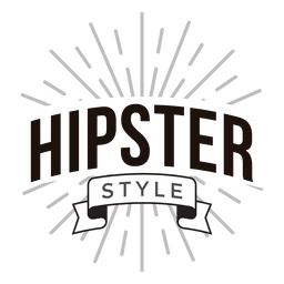Logotipo de estilo hipster