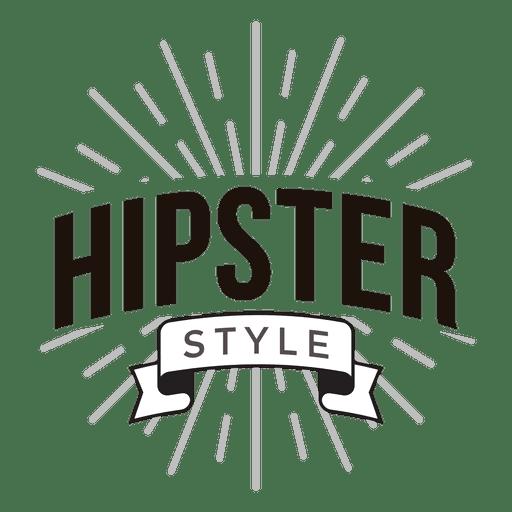 Logo estilo hipster Transparent PNG
