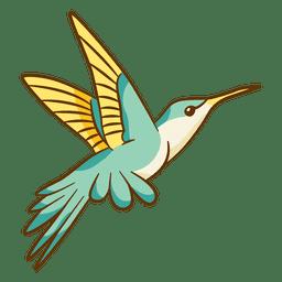 Dibujos animados de colibrí