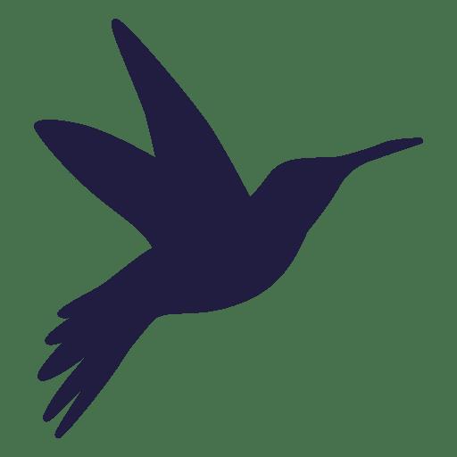 Colibrí volando silueta Transparent PNG