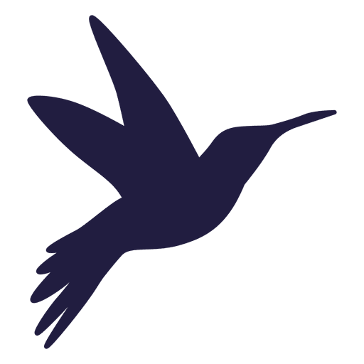 Hummingbird flying silhouette Transparent PNG
