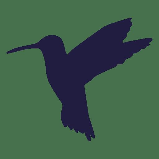 Colibrí flotando silueta Transparent PNG