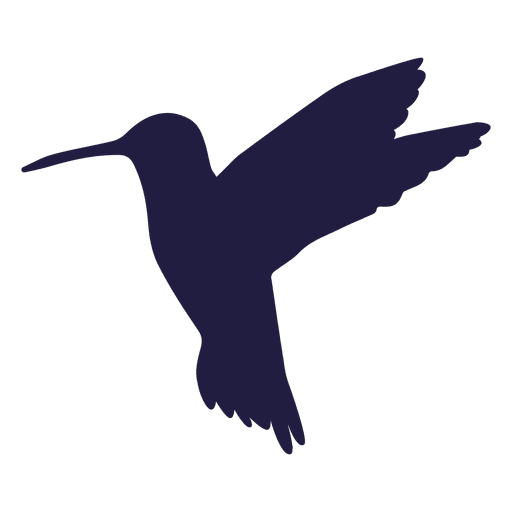 Hummingbird hovering silhouette Transparent PNG