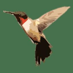 Ilustración de colibrí