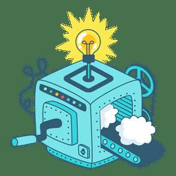 Desenhos animados de máquina de idéias