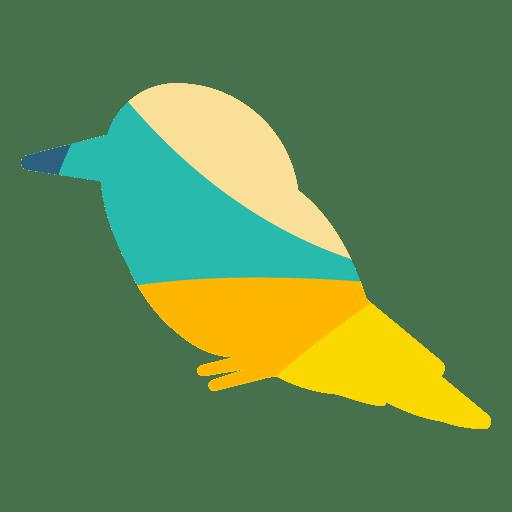 Martín pescador color abstracto Transparent PNG