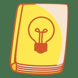 Cubierta de libro bombilla