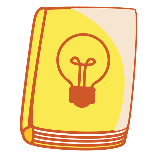 Light bulb book cover Transparent PNG