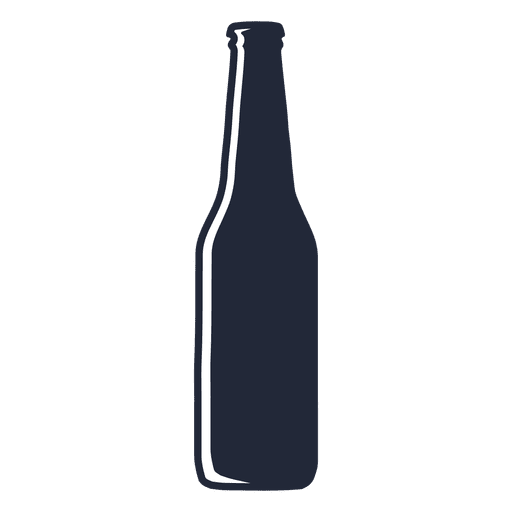 Silueta de botella de cerveza de cuello largo Transparent PNG