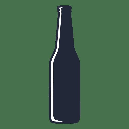 Silueta de botella de cerveza de cuello largo