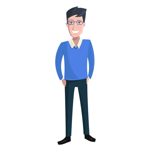 Man hands in pockets illustration Transparent PNG