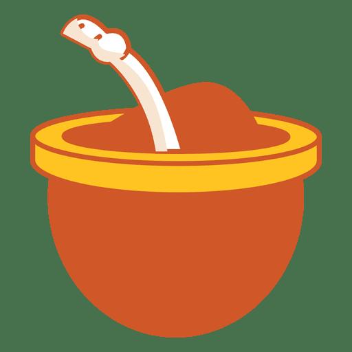 Ícone de bebida mate Transparent PNG