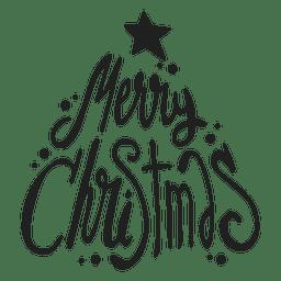 Frohe Weihnachten-Abzeichen