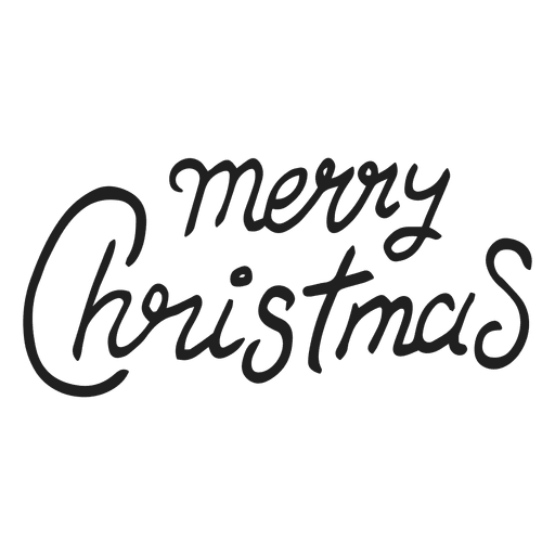 Merry christmas sign Transparent PNG