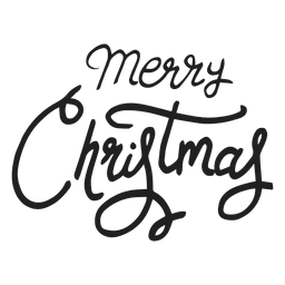 Merry christmas writing