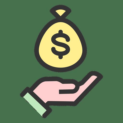 Money bag catching Transparent PNG