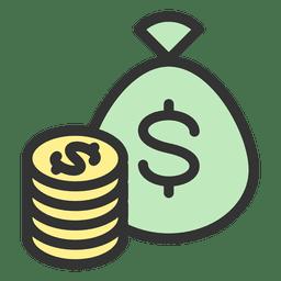 Monedas bolsa de dinero