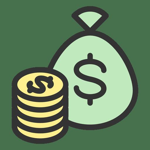Monedas bolsa de dinero Transparent PNG