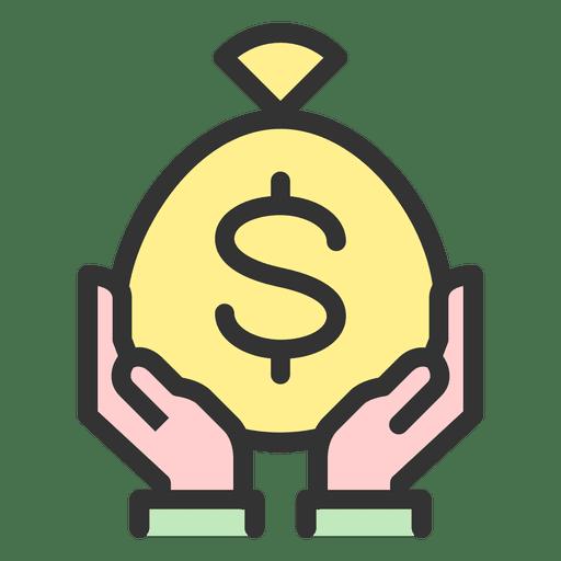 Segurando o saco de dinheiro Transparent PNG