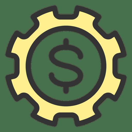 Engrenagem de dinheiro Transparent PNG