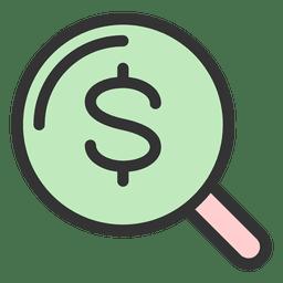 Geld Vergrößerungsglas