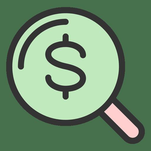 Lupa de dinheiro Transparent PNG