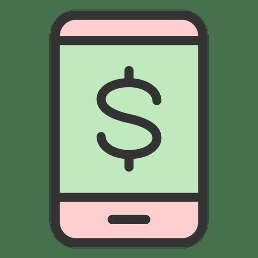 Pantalla de telefono de dinero Transparent PNG