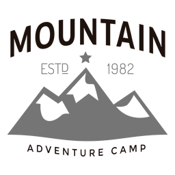 Logotipo del campamento de montaña