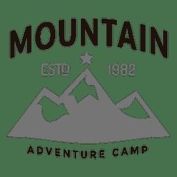 Logotipo do acampamento de montanha