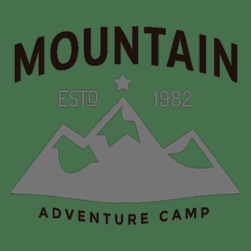 Logotipo del campamento de montaña Transparent PNG