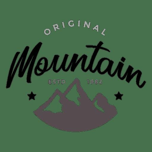 Logo de montaña Transparent PNG