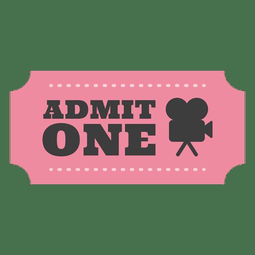 Movie admission ticket Transparent PNG