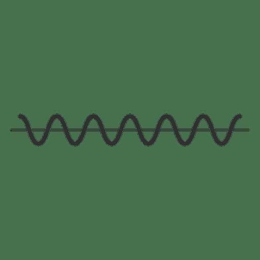 Icono de onda de música