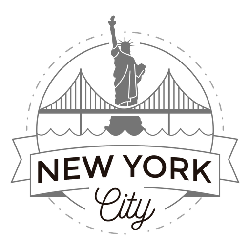 Logotipo da cidade de Nova york Transparent PNG