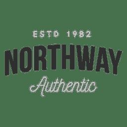 Logotipo autêntico da Northway