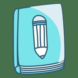 Cubierta de libro a lápiz