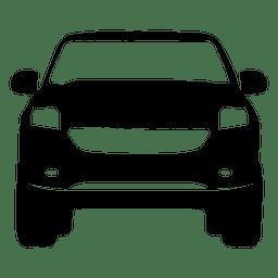 Recogida silueta vista frontal
