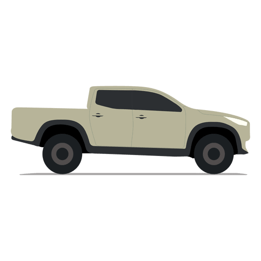 Pickup side view Transparent PNG SVG vector