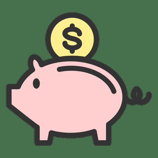 Caja de dinero de cerdo Transparent PNG