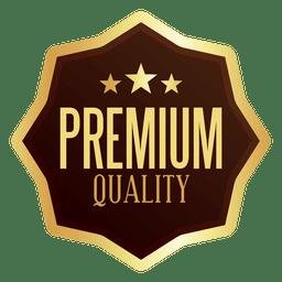 Emblema de qualidade premium